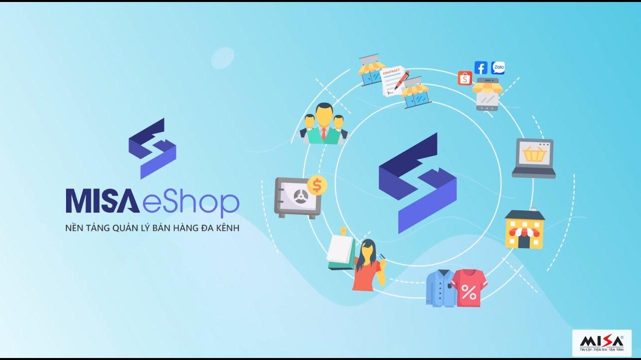 1. MISA ESHOP Quản lý cửa hàng thiết lập ban đầu, trang đặt hàng, kết nối kế toán