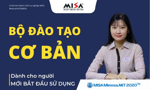 Hướng dẫn sử dụng phần mềm kế toán Hành chính sự nghiệp MISA Mimosa.NET